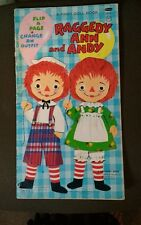 Vtg 1970 Raggedy Ann and Andy Flip A Page Change An Outfit A First Doll Book