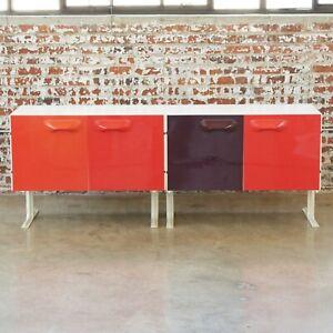 Raymond Loewy DF2000 Cabinets Vintage Pair Original Space Age DF-2000 Credenzas