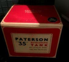 VINTAGE PATERSON 35 BLACK BAKELITE DEVELOPING TANK MINT WITH BOX