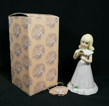 Enesco Growing Up Birthday Girls Age 9 Blonde in Box