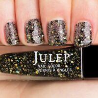 NEW! Julep nail polish BEATRIX Nail Vernis Coal black multidimensional glitter