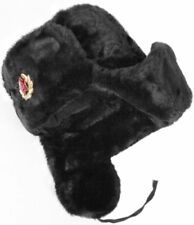 Hat Russian Ushanka Black-62 Soviet Army soldier