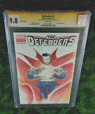 DEFENDERS 1 CGC 9.8 SS: Mystic DOCTOR STRANGE Sketch/ Signed by BRETT WELDELE!