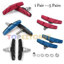 High Grade Cycling Bicycle MTB Bike V Brake Pads 70mm Shoes Pads Red/Blue/Black