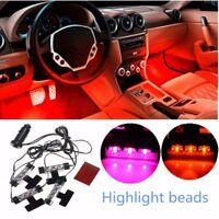 4x 3 LED Auto KFZ Fußraumbeleuchtung Innen Beleuchtung Fußboden Unterboden Lampe
