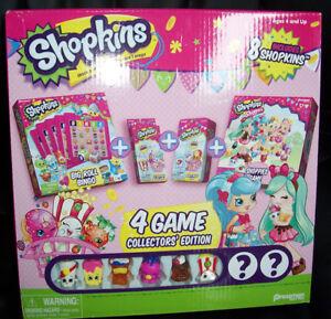 New* Shopkins 4-Game Collector's Edition Bingo/Card/Match/Shoppies Loc# EB17