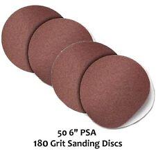 "50pc 6"" 180 Grit PSA Peel & Stick On SANDING DISCS Sandpaper Self Adhesive Back"