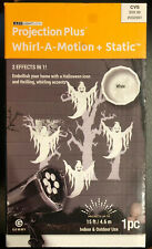 Gemmy 15 ft LED Lightshow White Ghost Projection Whirl A Motion Static Haloween