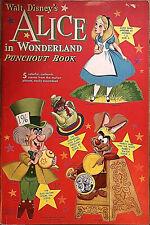 Vintage Original Disney Paper Toy Model *Alice In Wonderland* Dolls~Uncut Book