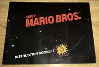 SUPER MARIO Bros Early Instruction Booklet MANUAL NO TM Print Nintendo 1985 NICE