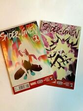 Spider-Gwen #1 and #2 1st Prints Marvel Comics