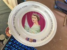 1957 Royal Visit To The USA By H.M. Queen Elizabeth II & Prince Philip Plate.