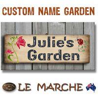 🌼 CUSTOM NAME Vintage GARDEN Wooden Rustic Plaque / Sign (FREE POST) 🌼