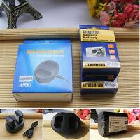 2 Battery+Charger for SONY Handycam NP-FV50 NP-FV30 NP-FV70 NP-FV100 DCR-DVD105
