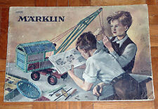 "Catalogo  ""MARKLIN METALLBAUKASTEN""  Originale tedesco Anni '40 (56 pagine)"