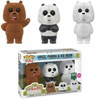 Funko Pop! - We Bare Bears - Grizz, Panda & Ice Bear - Flocked - 3 Pack