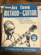 Vintage Joe Fava Method For Guitar Book 2 Crs Publishing 1963 Sheet Music Guide