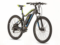 GREENWAY electric mountain bike, PANASONIC cell lithium battery LCD, PAS system