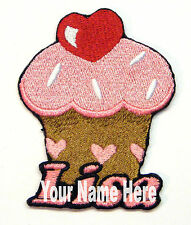 Cupcake Custom Iron-on Patch With Name Personalized