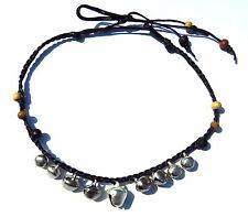 Armband mit Glöckchen Armbändchen Silber Schwarz Damen pulsera verstellbar NEU