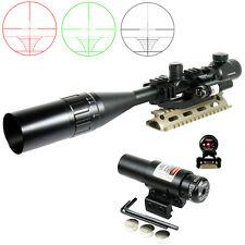 Black Rifle Scope 6-24X50R/G Mil-dot with PEPR Mount +Sunshade+Laser Sight Hot