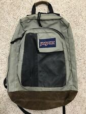 Vtg Jansport Classic Suede Leather Bottom School Student Book Bag Backpack USA
