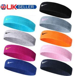 Unisex Headband Swoosh Sports Running Workout Yoga Gym Sweat Band Headband UK