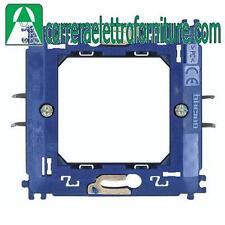 BTICINO LIVINGLIGHT antracite supporto 2 moduli con graffette LN4702G