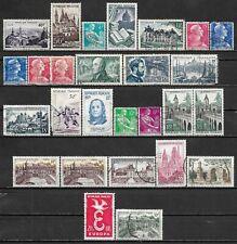 1951-1959 FRANCE LOT OF 27 USED/UNUSED STAMPS Scott CV $13.25