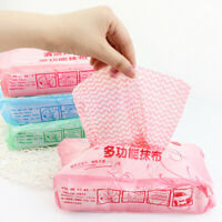 WR_ 70Pcs Disposable Non-woven Fabric Kitchen Washing Cleaning Oil Towel Dish Cl