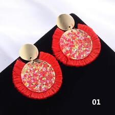 2018 Brand New Round Tassel Statement Earrings Fashion Women Jewelry