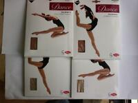 GIRLS DANCE TIGHTS BY SILKY SHIMMER STIRRUP & FULL FOOT VARIOUS SIZES & COLOURS