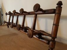 Ancien grand porte-manteau faux bambou - Vintage large wooden Coat Rack