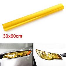 30 x 60cm Yellow Tint Film Fog Tail Light Headlight Car Tinting Van Wrap Sheet