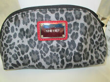 "NWT NINE WEST LEOPARD PRINT COSMETIC BAG MEASURES 8 X 5"" NWT RETAILS $30."