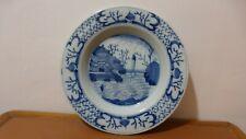 DELFT. Assiette faience camaieu XVIIIème Décor chinois. Antique Delft plate...