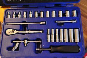 """Draper Expert 25 Piece Metric Socket Set 1/4"""" Sq. Drive 18964 B25M"""