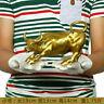 8inch ( Length ) Big Wall Street Bronze Fierce Bull OX Statue-Brass/
