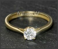 Diamant Solitär 585 Gold Brillant Ring 0,63 ct / I / Si2, 14 Karart Gelbgold NEU