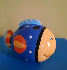 New listing Coco Dowley Bacova 1994 - Fish Toothbrush Holder - 1994 .Bathroom Sea life Fun