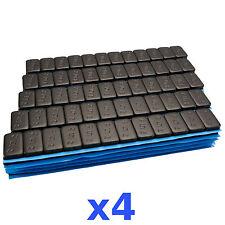 4x 6kg 24kg Black Premium Wheel Weights 12x5g Stick-On Weights 400 Bar