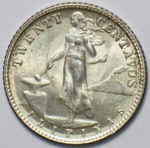 Philippines 1945 20 Centavos Eagle animal 294797 combine