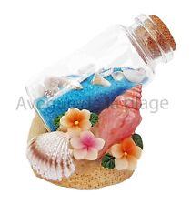 Coquillages sur la plage avec bouteille de sable, décoration marine, neuf