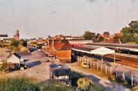 PHOTO  NEWBURY RAILWAY STATION 1975 AERIAL VIEW
