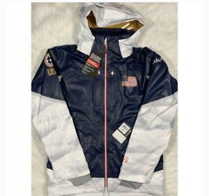 NEW Men's Columbia Team USA ODX Mogul 2018 Olympic Team Jacket Sz M 450$ Rare