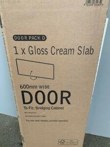 B&Q CREAM  Gloss Slab  600mm Wide x 277mm High Oven Hob Door PACK D