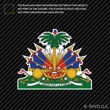 Haitian Coat of Arms Sticker Decal Self Adhesive Vinyl Haiti flag HTI HT