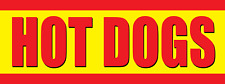 Hotdogs Advertising Vinyl Banner Business Store Sign for Party Fair Event 3'x8'