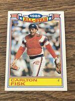 Vintage 1986 Topps Glossy All Star #9 CARLTON FISK Red/White Sox C MLB HOF NM/Mt
