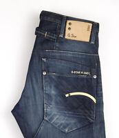 G-Star Brut Hommes Lame Slim Jean Taille W31 L34 APZ882